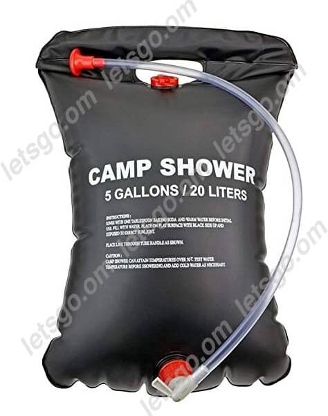 portable outdoor camp shower solar heated folding shower water storage 5 Gallon